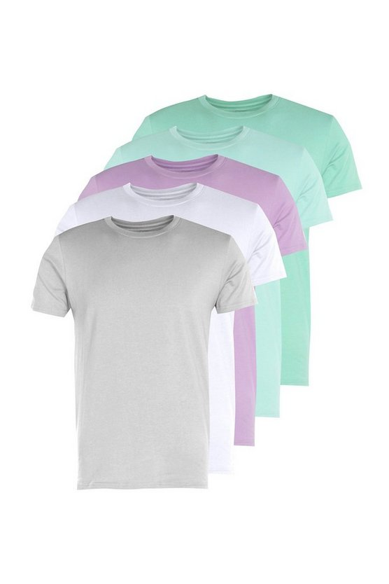 5 Pack Muscle Fit T-Shirt