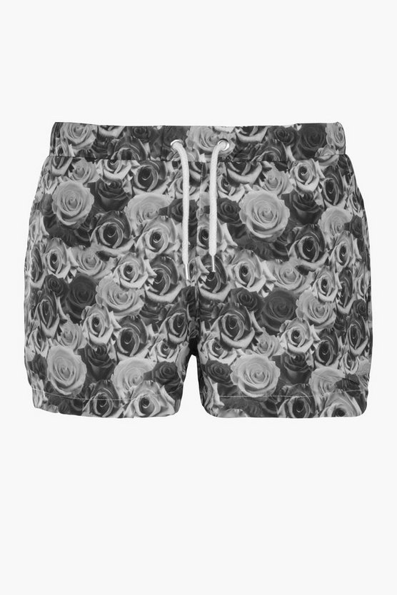 Rose Print Swim Short