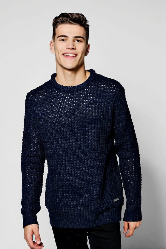 Fisherman Heavy Knit Gauge Crew Neck Jumper