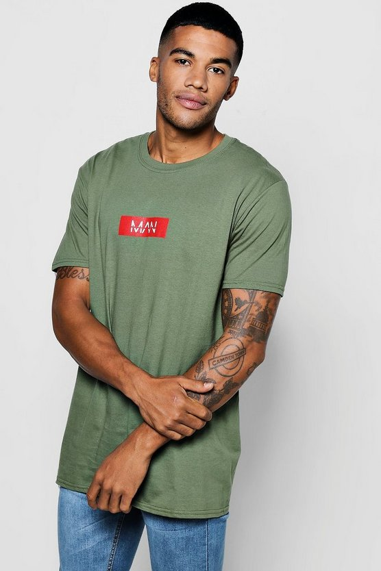 T-shirt con stampa logo man red box