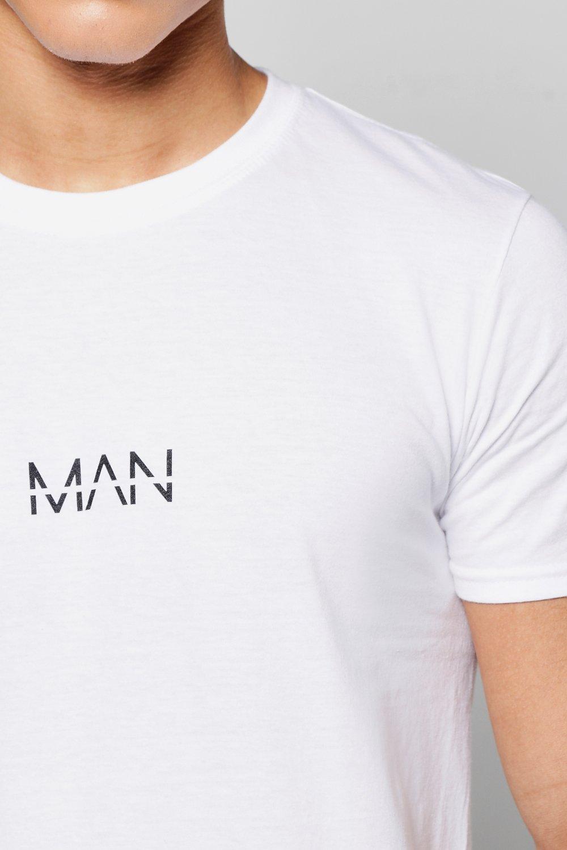 Boohoo Mens Original Man Logo Print T Shirt Ebay