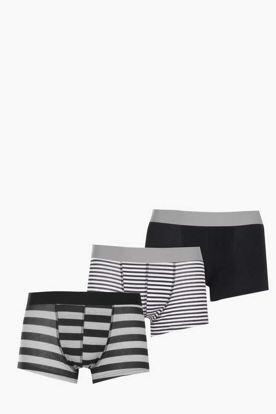 3 Pack Hipster Trunk Stripe