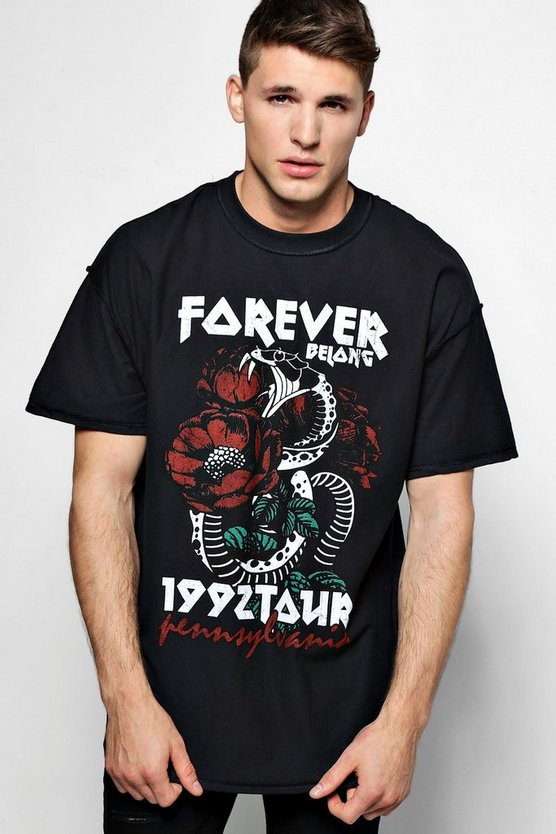 Oversized Forever 1992 Tour T Shirt