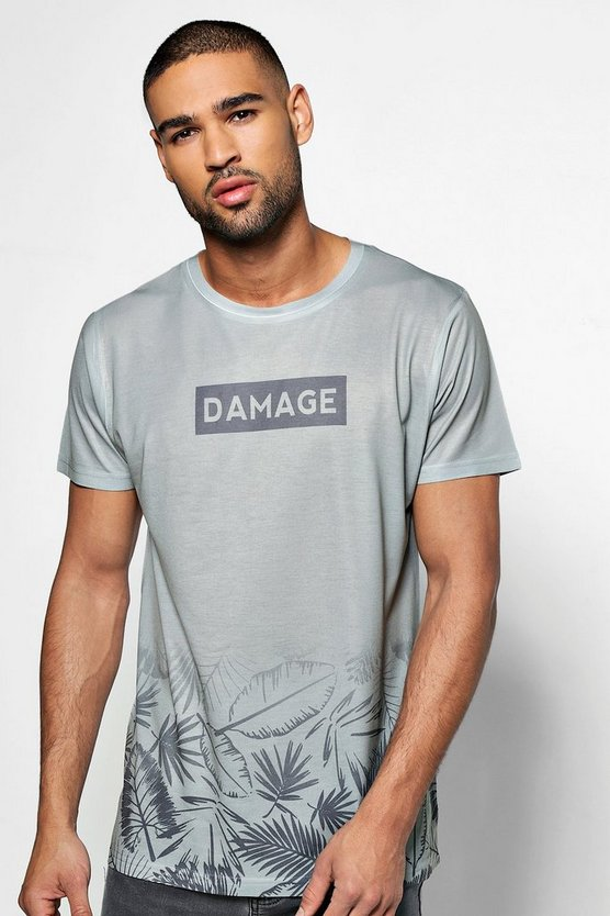 Damage Sublimation Print T Shirt