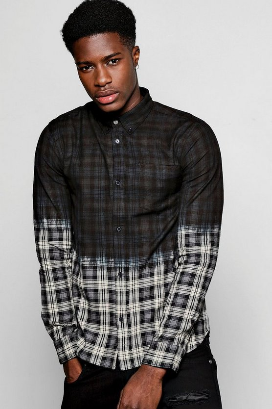 Long Sleeve Ombre Check Shirt