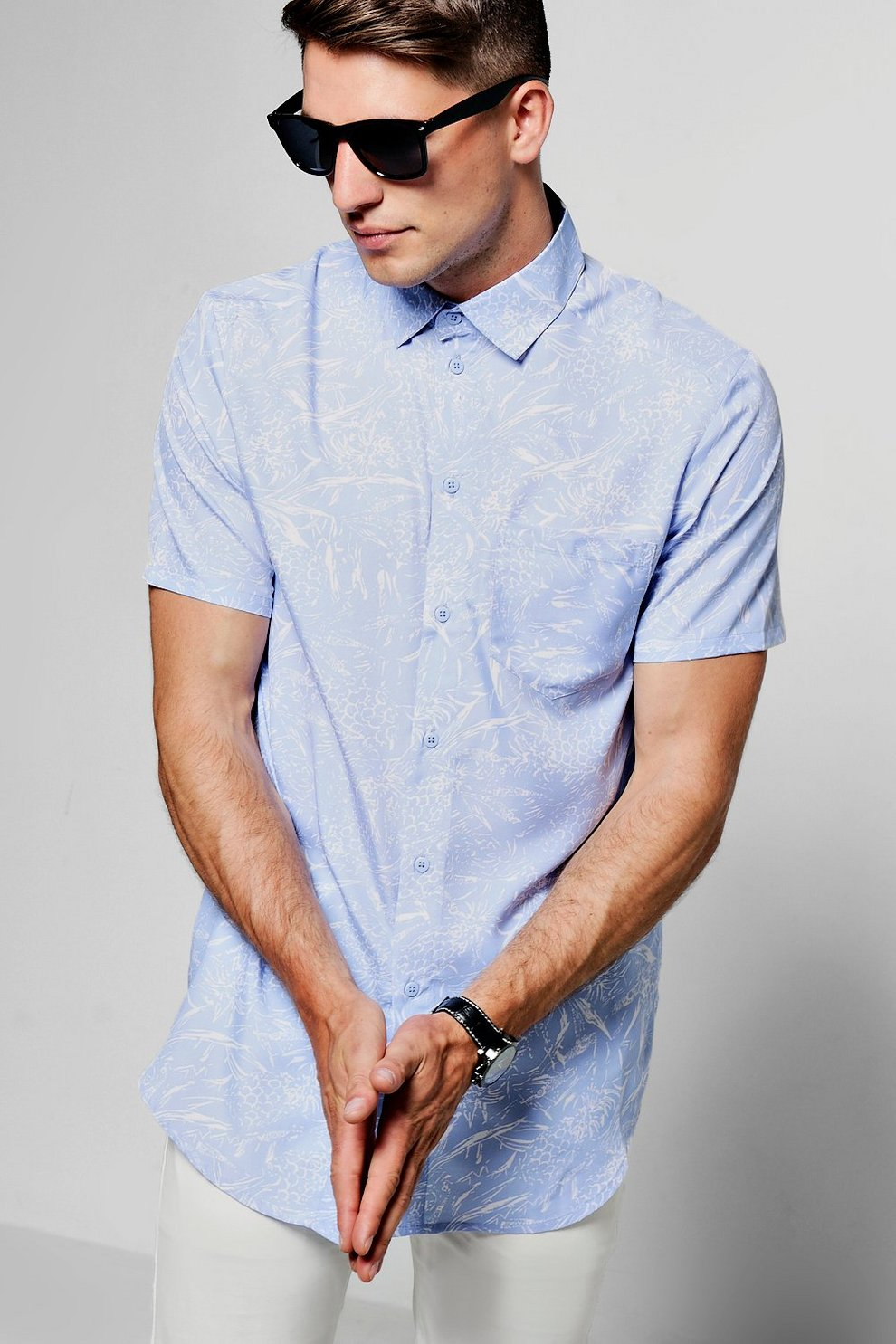 bcae17ebb9e Short Sleeve Pineapple Print T Shirt