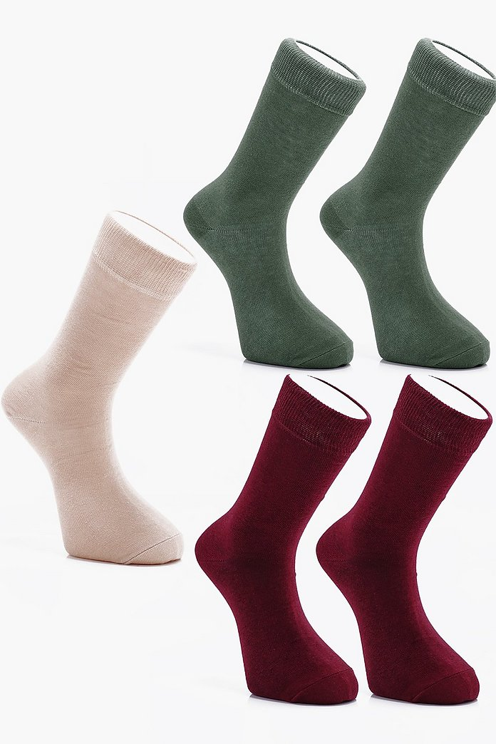 clearance sale cozy fresh low cost 5 Pack Coloured Cotton Socks | Boohoo