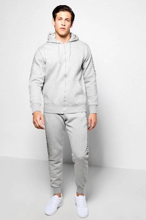 Ribbed Panel Tracksuit