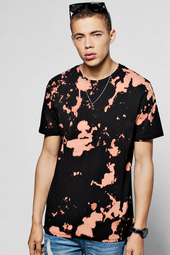 Tie Dye Oversized Curved Hem T Shirt