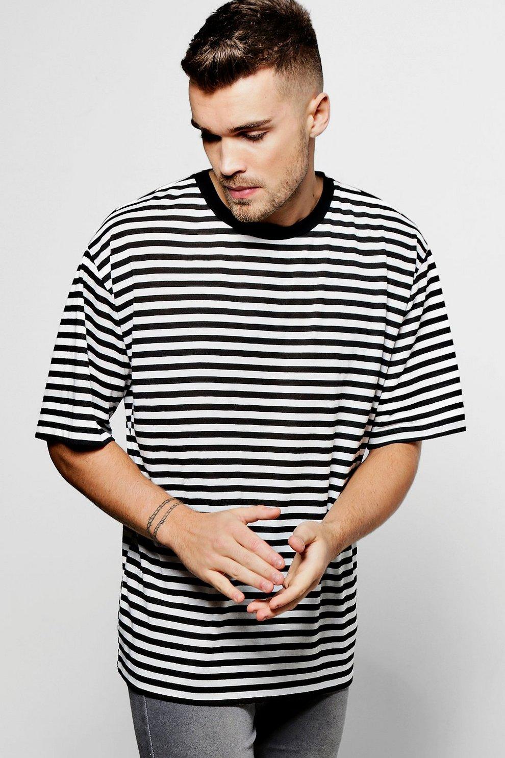 65f645ded Mens White Oversized Drop Shoulder T Shirt