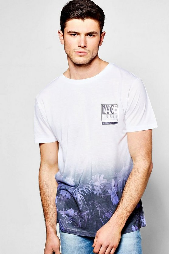 NYC Faded Floral T Shirt