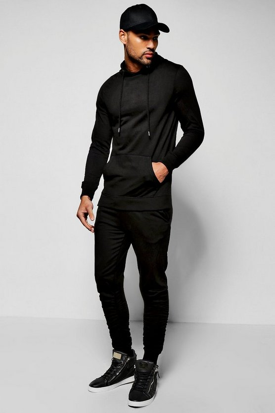 Skinny Fit Tracksuit With Ruched Joggers