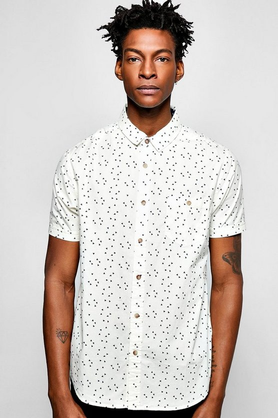 Short Sleeve Geo Print Shirt