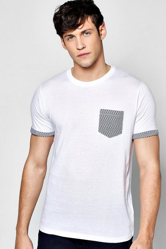 Geo Print Pocket T Shirt