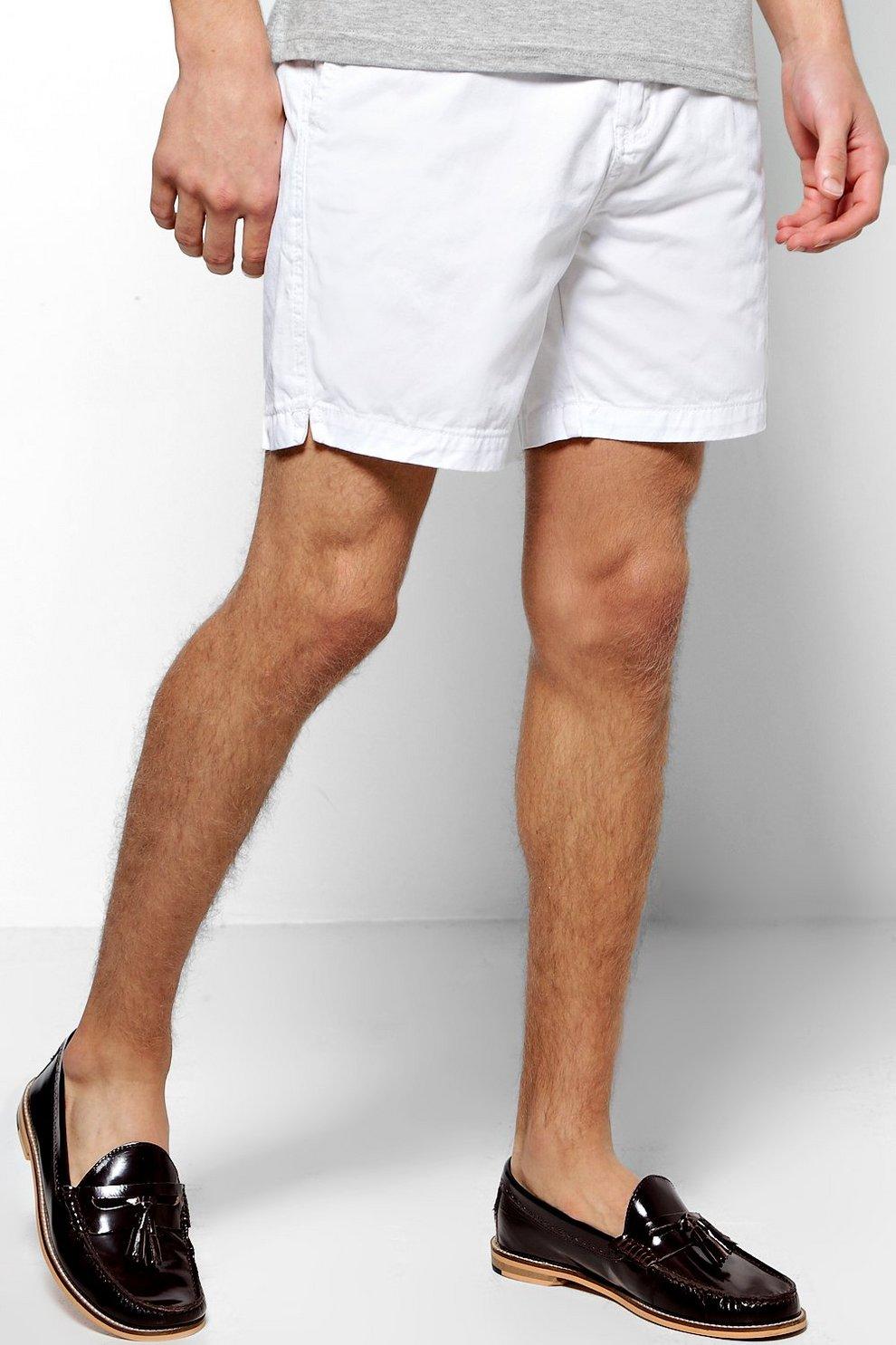 67c478a4ec7d Short Length Cotton Chino Shorts | Boohoo