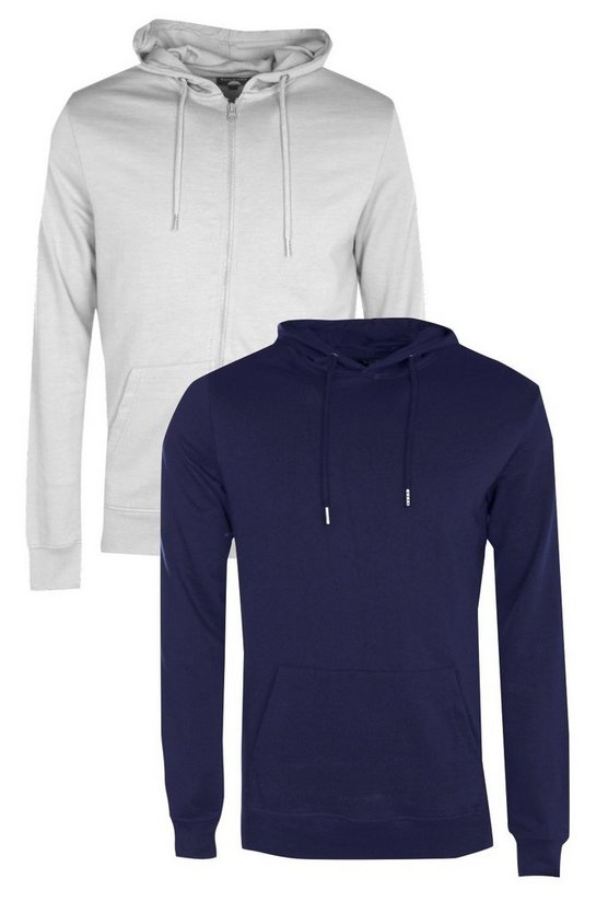 Lot de 2 sweatshirt à capuche zippés et à enfiler