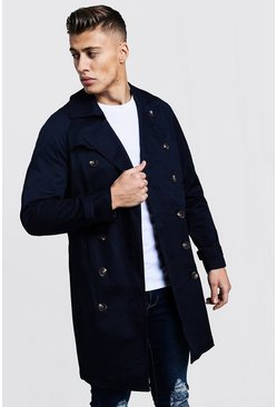Navy Double Breasted Smart Trench