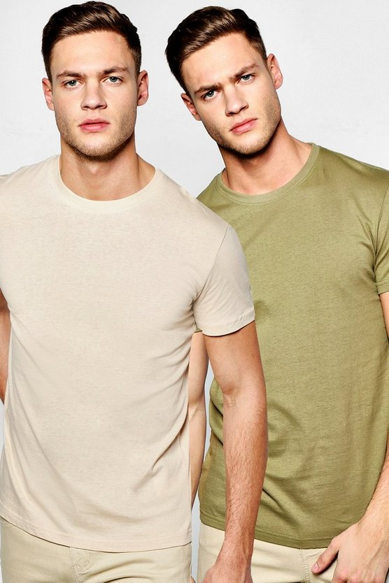 2 Pack Regular Fit Crew Neck T Shirts