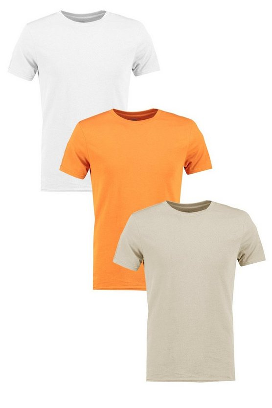 3 Pack Muscle Fit Crew Neck T Shirts