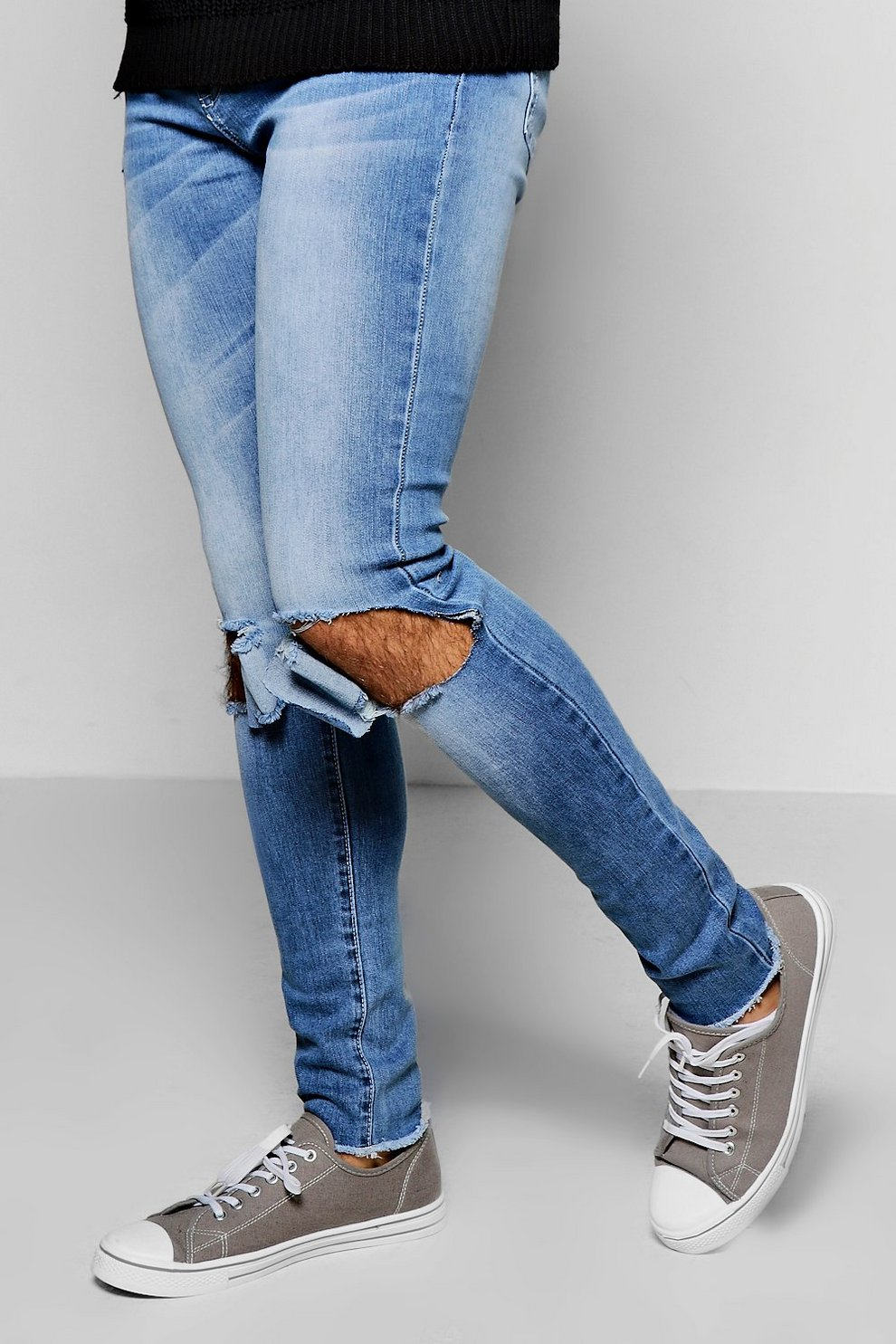 76296900fc Super Skinny Ripped Knee Jean. Hover to zoom