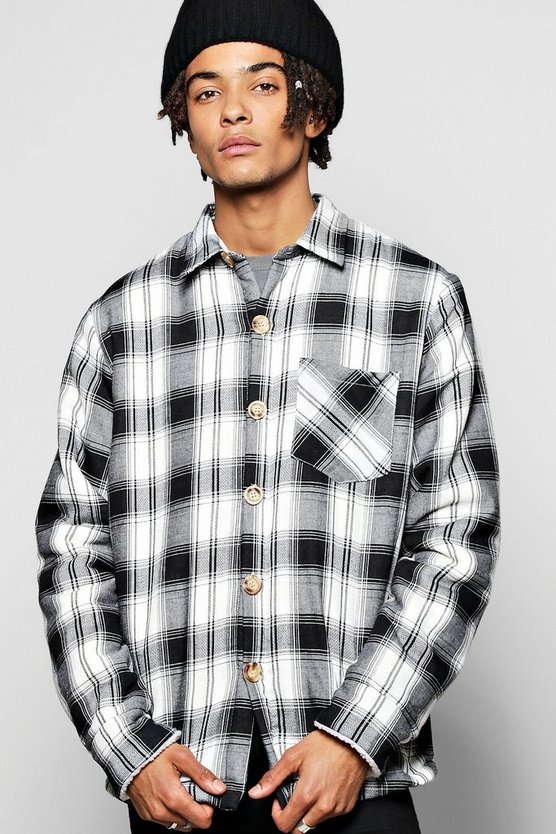 Borg Lined Check Shacket