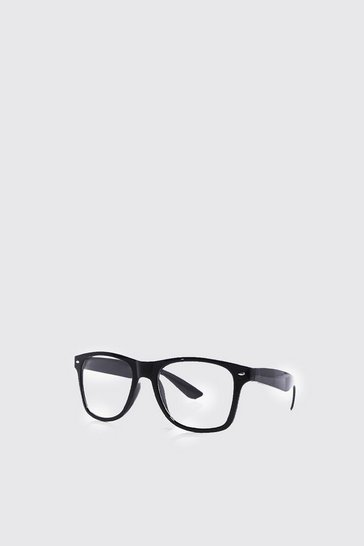 Black Classic Geek Glasses