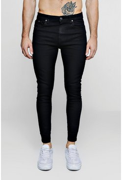 Mens Black Super Skinny Fit Jeans