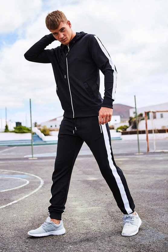 Skinny Fit Poly Colour Block Tracksuit