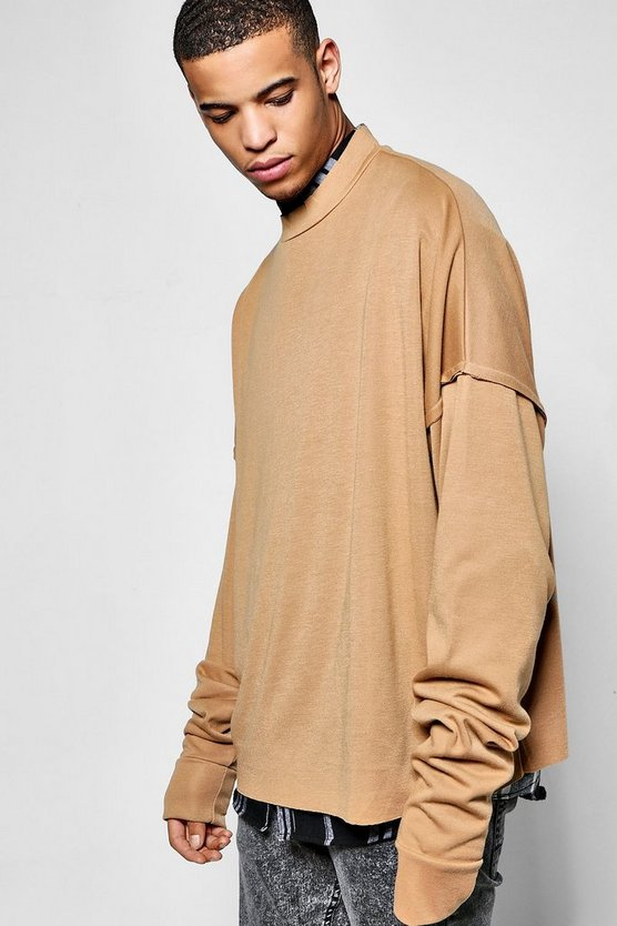 Super Oversized Sweatshirt With Exposed Seams