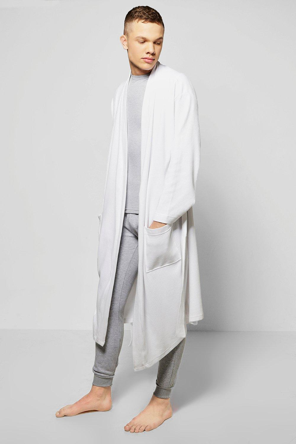 Waffle Texture Dressing Gown   Boohoo
