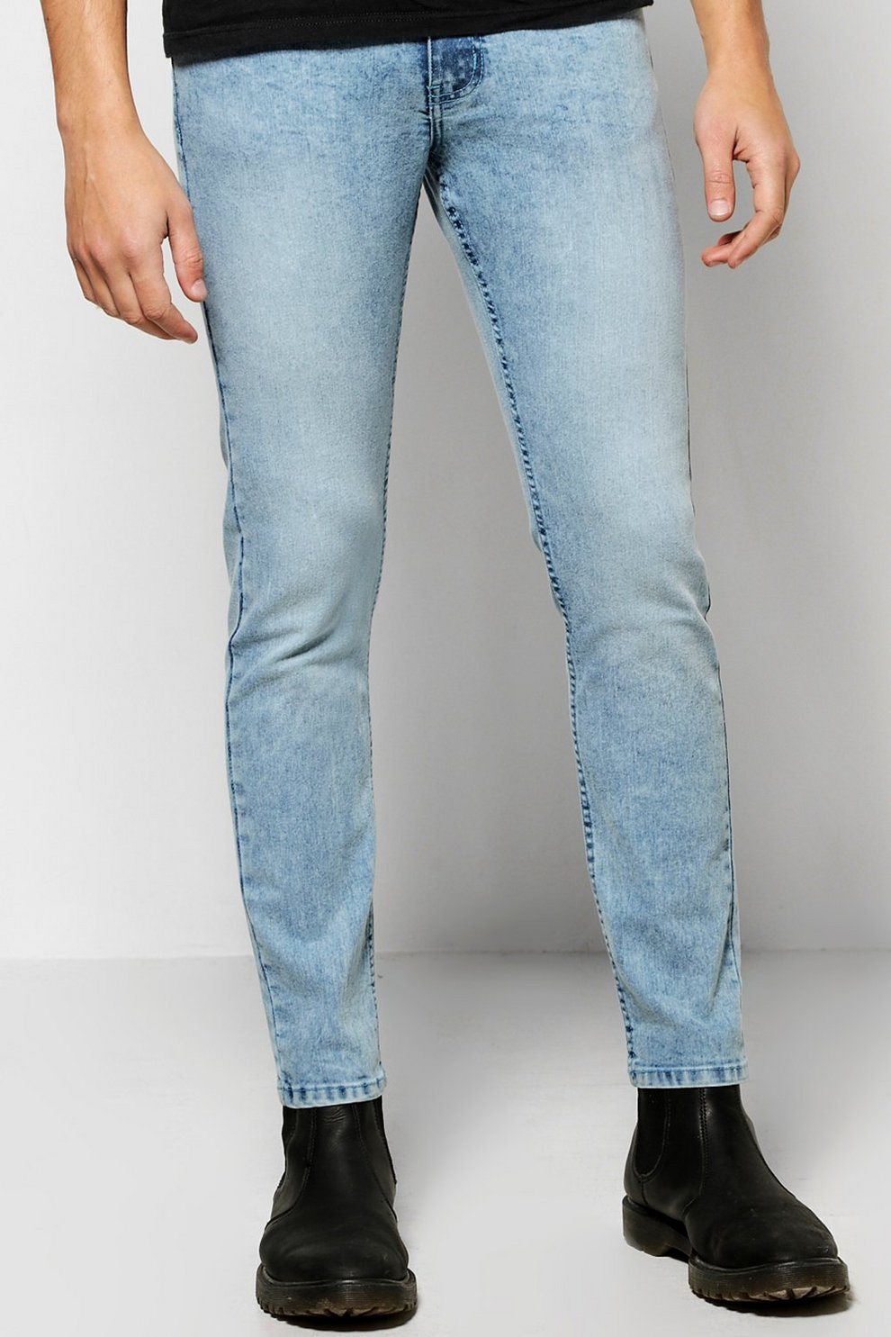 05c0150b574 Skinny Fit Acid Wash Jeans. Hover to zoom