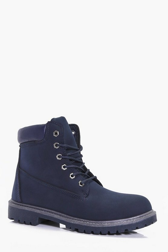 Mens Navy Worker Boots
