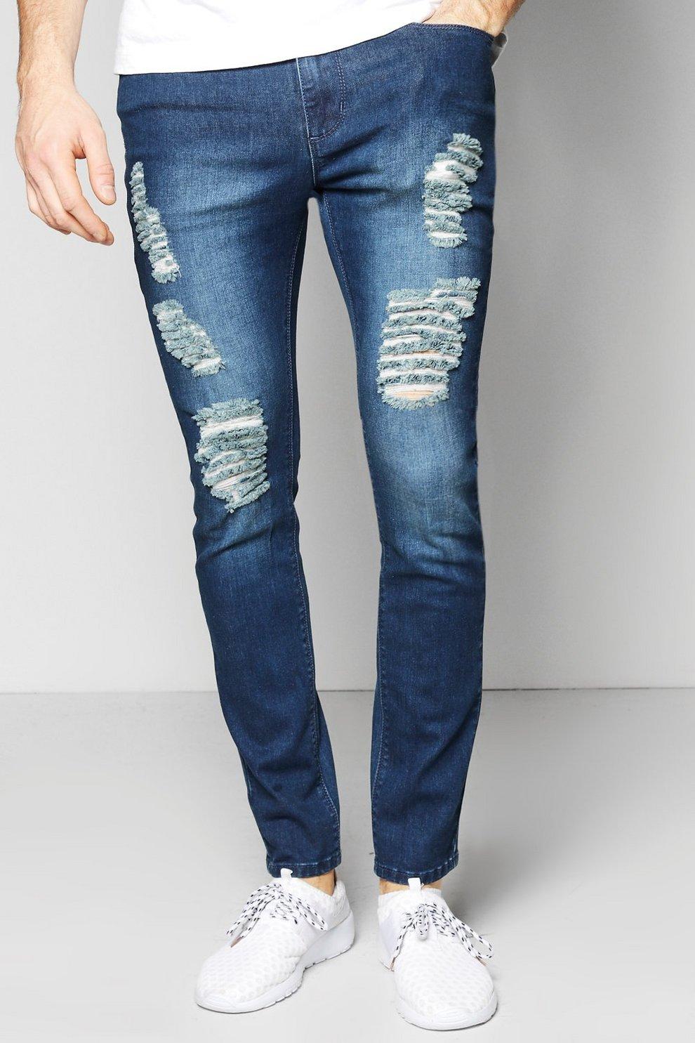 b391163ffbac Skinny Fit Rip & Repaired Jeans | Boohoo