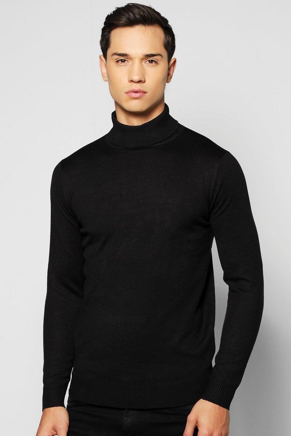 6751602e4f2843 Fine Gauge Knitted Roll Neck Jumper | Boohoo