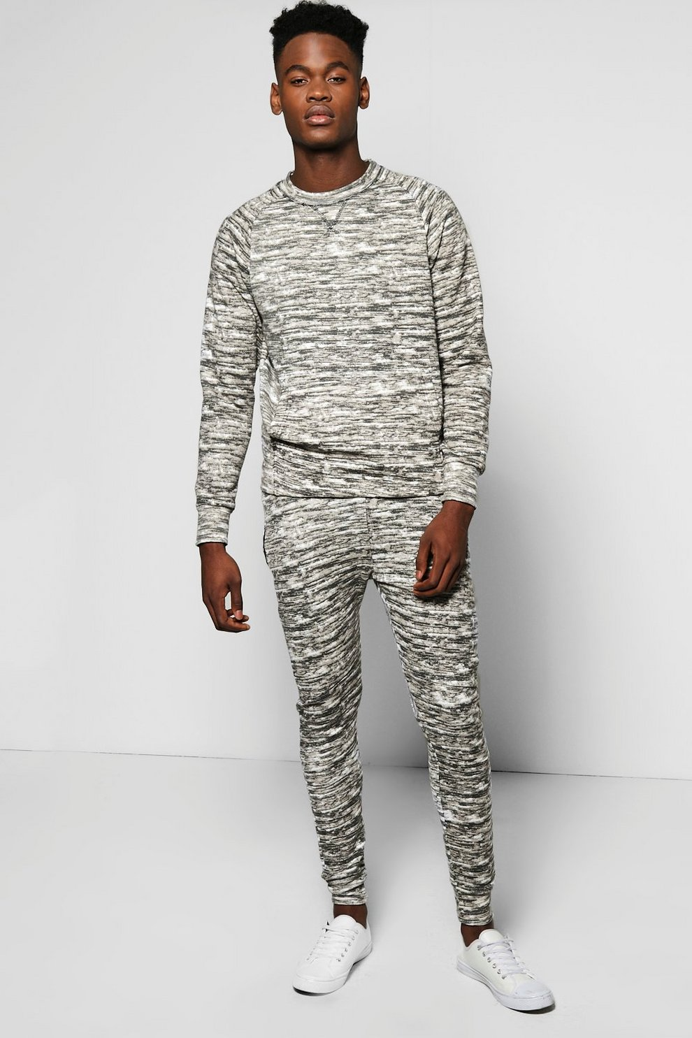947b1bb5431e Skinny Fit Camo Sweat Tracksuit | Boohoo