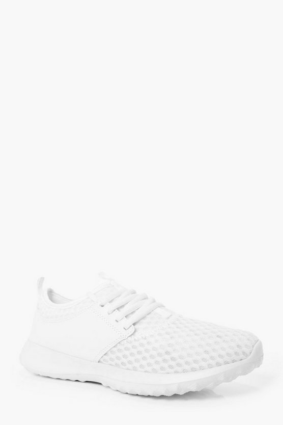 Honeycomb Mesh Running Trainers