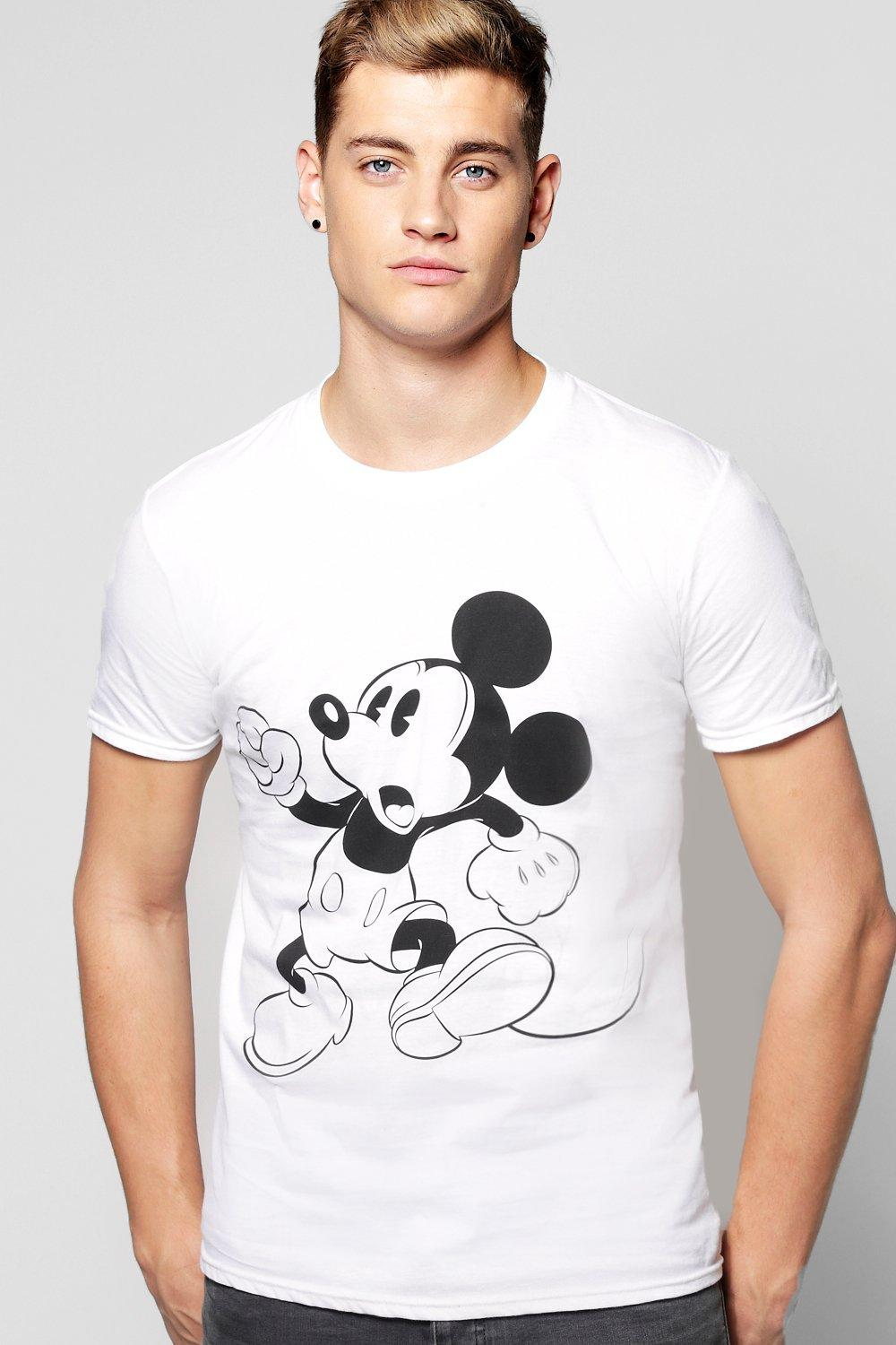 Vintage Mickey Mouse Print T-Shirt. Hover to zoom