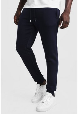Herr Navy Slim Fit Joggers