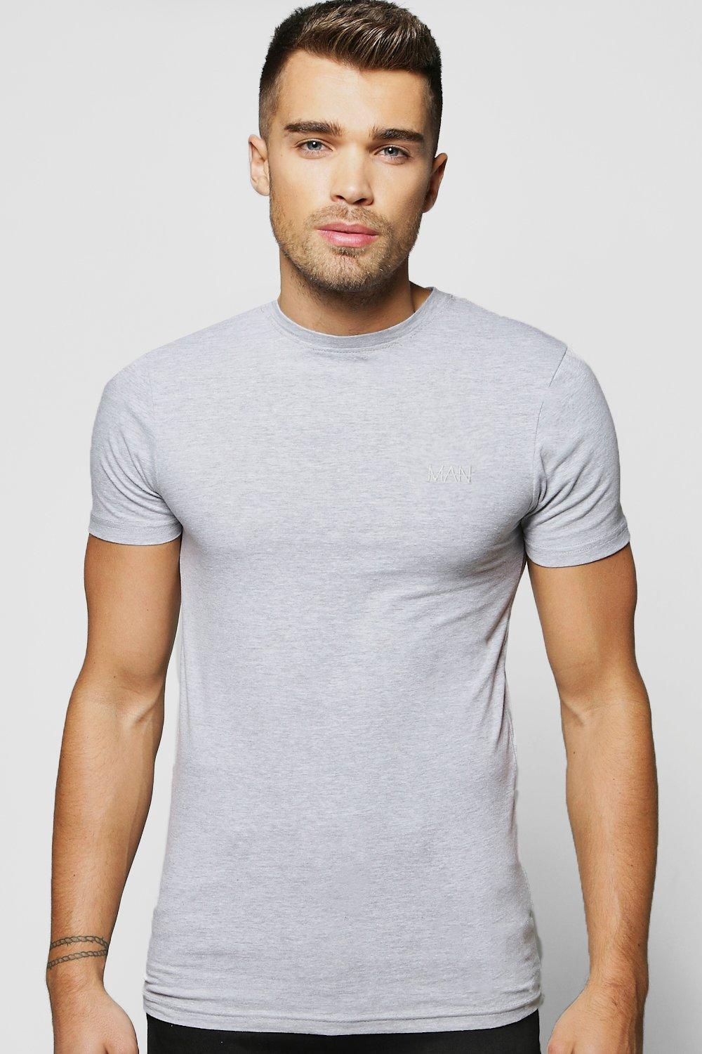 deca1d7a65a Short Sleeve MAN Muscle Fit T-Shirt | Boohoo