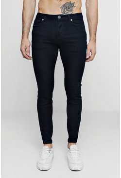 Mens Black Skinny Fit Fashion Jeans