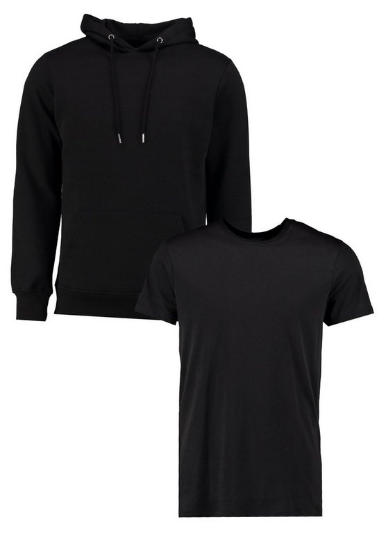 Over The Head Hoodie With Longline 2 Pack