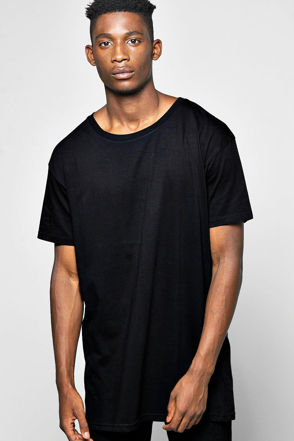 cb49a4873 Longline T Shirt With Scoop Hem. Hover to zoom