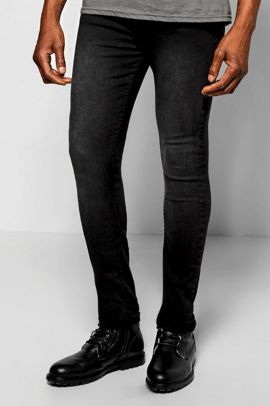 Washed Black Super Skinny Fit Jeans