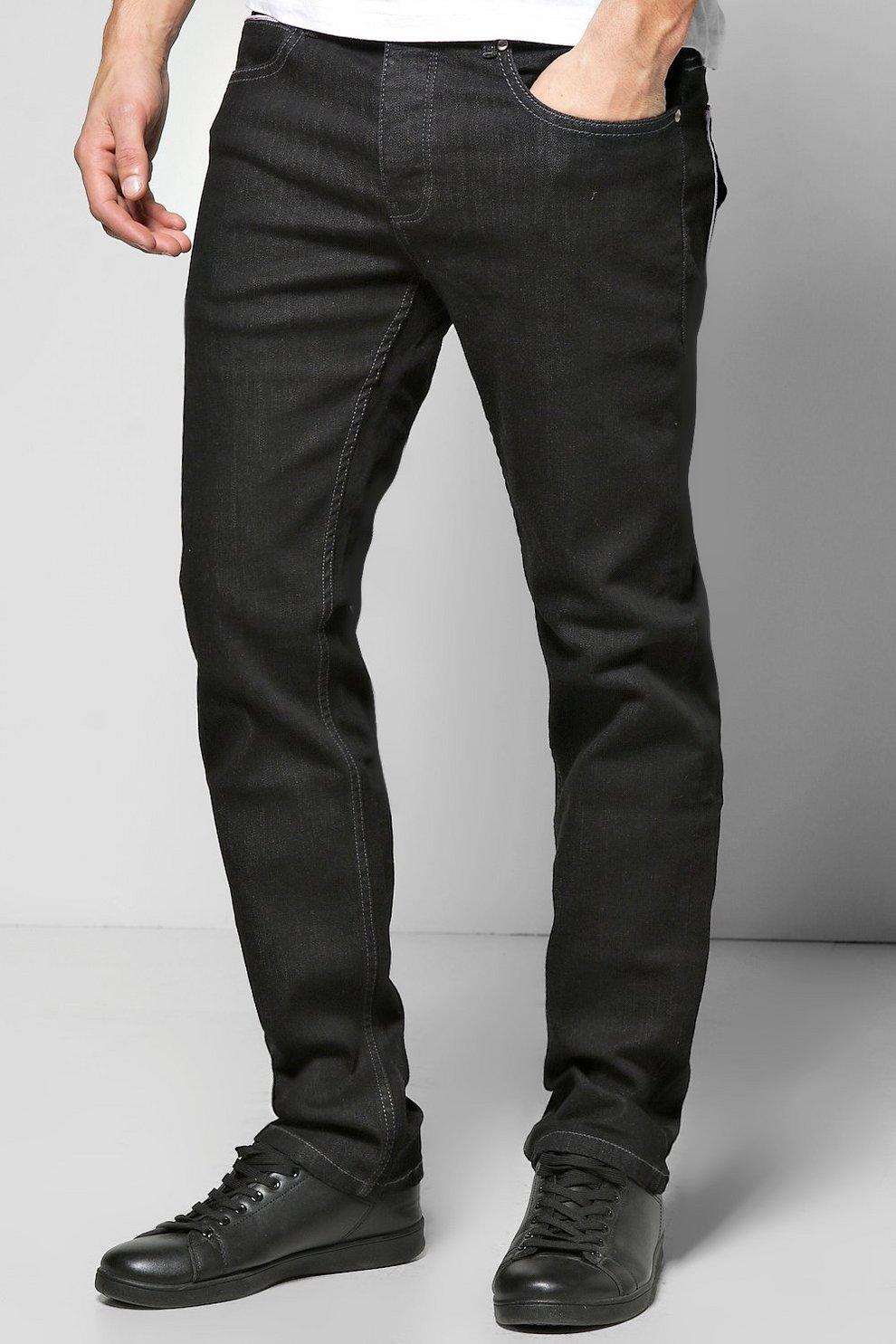 d11dcebeba Slim Fit Washed Black Jeans | Boohoo