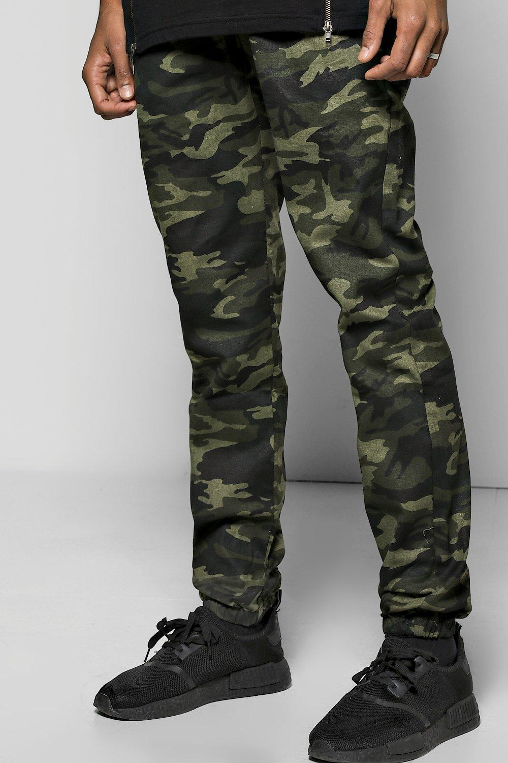 8778a24bc2bac8 Mens Camo Cuffed Skinny Joggers. Hover to zoom