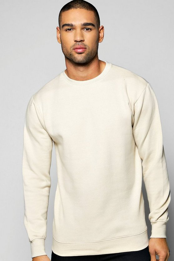 Lightweight Basic Crew Neck Sweatshirt