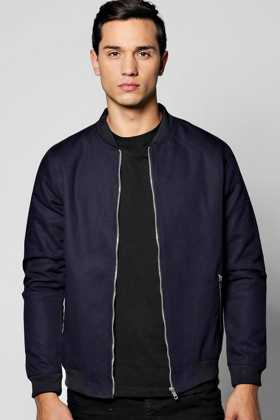 Cotton Canvas MA1 Bomber Jacket