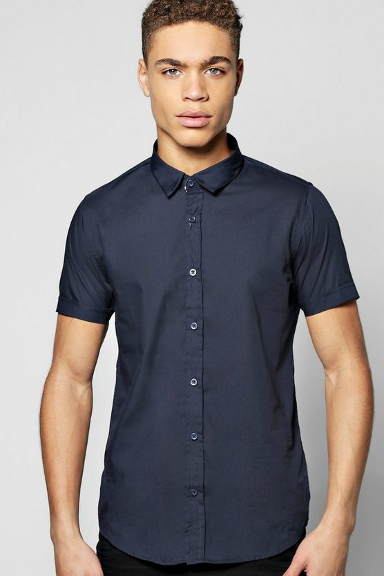 Slim Fit Short Sleeve Smart Shirt