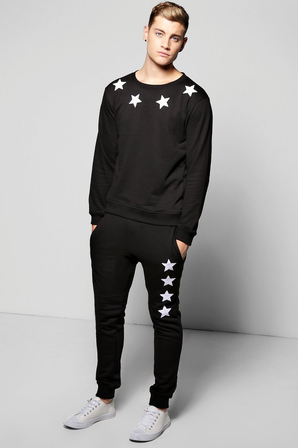 6a0cb2f7d735 Star Embroidered Tracksuit | Boohoo