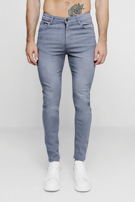Grey Skinny Fit Jeans